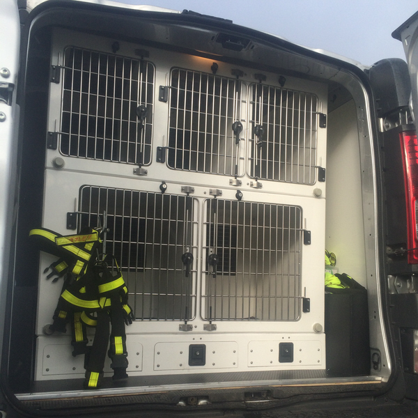 Vauxhall Vivaro 5 Compartment Dog Van Conversion